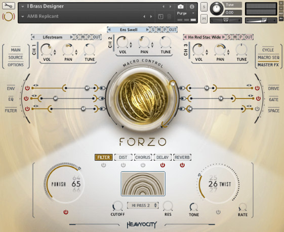 Heavyocity FORZO Brass library for composing