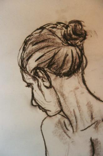 Sepia Pastel Portrait